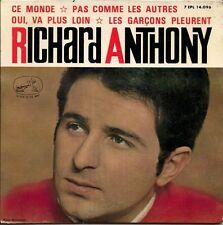 """Richard Anthony  Ce Monde / Pas Comme Les Autres +2 Spanish 45 7"""" EP Spain"""
