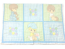 New listing Precious Moments Vintage Baby Blanket Quilted Cover Patchwork Colorful Nursery