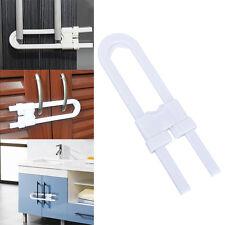 Child Infant Baby Kid Safety Drawer Door Cabinet Cupboard U Shape Lock Latches