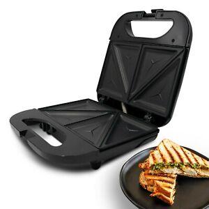 800W 2 Slice Non Stick Hot Plates Press Sandwich Toastie Maker Toaster Machine