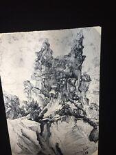 """Rodolphe Bresdin """"The Crevasse"""" French Art 35mm Slide"""