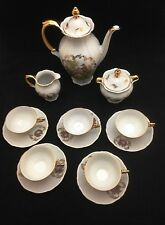 Childern's Tea Set by Bareuther with Victorian Courting Scenes - Teapot, Teacups