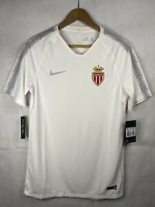 Monaco Fc Nike White Mens Football Top Size Medium - New With Tags