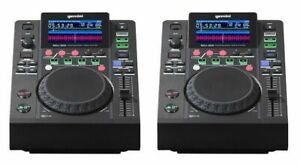 GEMINI MDJ 500 2PZ USB MP3 COPPIA MEDIA PLAYER MIDI 24 BIT GARANZIA UFFICIALE