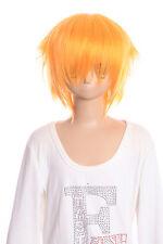 W-01-f3 Hell-Orange brevemente 35cm cosplay peluca Wig perruque pelo anime manga