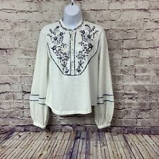 Free People Womens Sundance Kid Embroidered Pullover Long Sleeve Top Size Xs