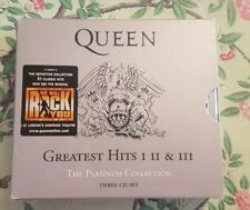 queen greatest hits 1-2 & 3 the platinum collection cd box set 2000 see desc