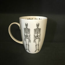 CHARLOTTE CLARK LARGE ANATOMICAL SKELETON MUG. FINE CHINA CUP. GOTHIC KITCHEN.