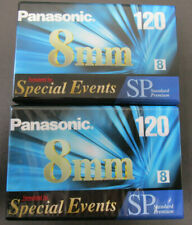 Panasonic 8MM 120 SP Video Tapes 2 Pack for Special Events Standard Premium