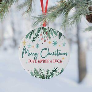 Personalised Christmas Tree Decoration.Xmas Customised Bauble. 2021 Gift