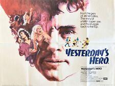 Yesterday's Hero Original 1979 Quad Poster Somers McShane Adam Faith Putzu Art