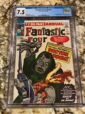 FANTASTIC FOUR ANNUAL #2 CGC 7.5 OW- WHITE PAGES HIGH END ORIGIN DR. DOOM HOT!