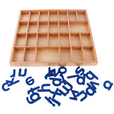 Movable Alphabet Box a-z Montessori Wooden Toys for Kids Table Play Toy Gift