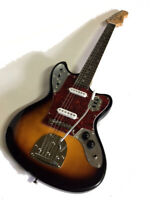 NEW JAG STYLE 2 TONE SUNBURST 6 STRING ELECTRIC GUITAR TREMOLO OFFSET BODY