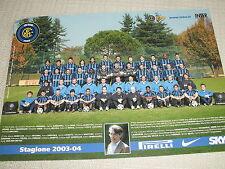 CARTOLINA UFFICIALE CALCIO SQUADRA INTER F.C. INTERNAZIONALE 2003/2004