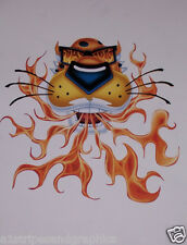 Fire Breathing Cheeta Decal Graphic Window Sticker Decals Cat Flames Flame