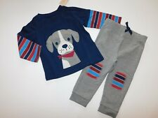 NWT Firist Impressions Baby Boy 2 Pc Set Puppy Dog T-Shirt/Joggers 18M New