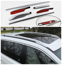 For 2014-2020 Nissan Rogue Alloy Top Roof Side Bars Rails Rack Luggage Carrier