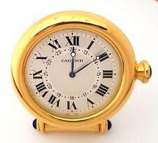 Cartier Vintage Desk Travel Alarm Gold Plated Clock Mint Condition