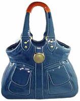 Large Trendy Glossy ~ DENIM STORY ~ Ceramic Vase Hand Bag ~ Ornament ~ Gift