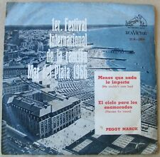 """PEGGY MARCH He Couldn't Care Less SOUTHAMERICA 7"""" PS 1966"""