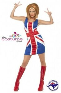 Ginger Spice Girls Union Jack Dress 90s Pop Star Costume