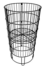 Dump Bin Basket Retail Wire Floor Store Display Rack Adjustable Shelf Black New