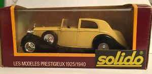 SOLIDO - AGE D'OR -  ROLLS ROYCE COUPE #46 BEIGE IN DISPLAY BOX 1/43 SCALE