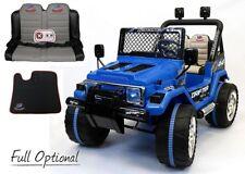 Auto Macchina Elettrica Jeep 12 V 2 Posti Per Bambini S Web Blu