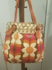 Fossil Bag Tote Flowers Designer Fashion Coated Canvas Multocolor Fun Hip Gift