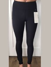 Lululemon Size 12 Speed Up Tight Black BLK Reflective Pant Medium Rise NWT Lux