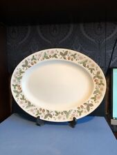 """Wedgwood Strawberry Hill Very Rare 17.5"""" x 13.25"""" Carving Platter Serving Plate"""