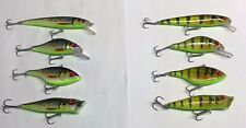 Set of 8 Jack Lures Jerkbaits Crankbaits Fishing Lures Bass Walleye Pike Perch