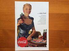 1950's Original Coca-Cola Magazine Ad American Coke Elegant Woman