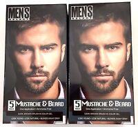 2x Mens Hair Color Dye Dark Brown Select Mustache & Beard Hair Men 5 Minute Gel