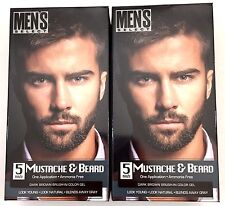 2x Mens Hair Color Dye Dark Brown Select Mustache & Beard Hair Men 5 Minute Gel