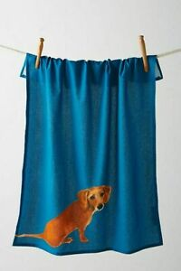 NWT Anthropologie Dog-A-Day Dachshund Tea Towel