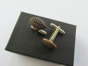 Handmade Sporty Sport Sports Themed Rugby Ball Mens Cufflinks Gift Boxed 12850R