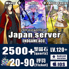FGO Merlin JP Zhuge Liang//Waver /& 1600 Endgame Account Saint Quartz Lv100