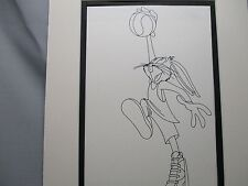 Bugs Bunny  Playing Basketball   Looney Tunes   1960,s Line Drawing