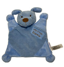 Babies R Us My First Blanket Plush Security Blanket Blue Corduroy Lovey Puppy