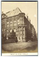 Belgique, Ghent, Hôtel de Ville  vintage albumen print Tirage albuminé  10x1
