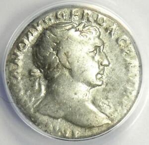 Roman Trajan AR Denarius Silver Coin 110 AD - Certified ANACS VG10