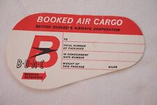 More details for british overseas airways corporation boac air cargo airline luggage label