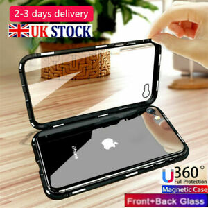 360 Magnetic Metal Phone Case for iPhone 11 PRO MAX X XS XR 8 7 Plus Clear Cover