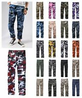 Mens Military Army Combat BDU Camo Pants Casual Cargo Pants Outdoor Work Camp