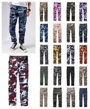 Mens Military Army Combat BDU Camo Pants Casual Cargo Pants Outdoor Work Camp
