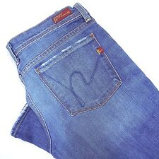 Citizens Of Humanity Blue Jeans Size 28 Women's Stretch Low Waist Flare Sz 28/32