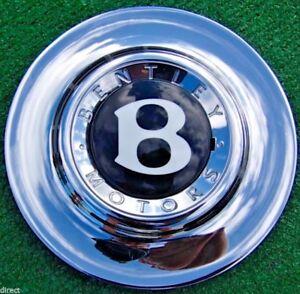 Factory Bentley Azure Arnage CHROME Center Cap Genuine OEM 19 inch Wheel Centre