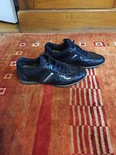 Tod's women's Oxfords blue leather shoes, size 7.5